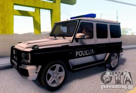 Мерседес-Benz G65 AMG в Биг полицейский автомобиль для GTA San Andreas
