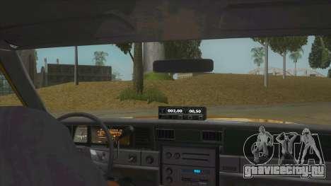 Chevrolet Impala Taxi 1985 для GTA San Andreas вид изнутри