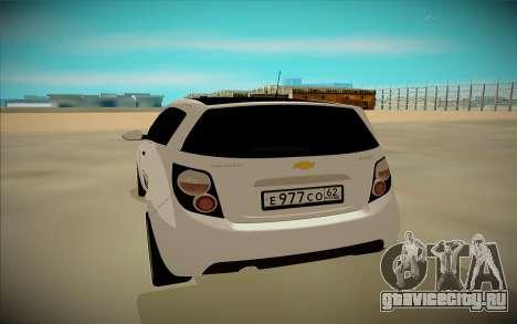 Chevrolet Aveo для GTA San Andreas вид сзади