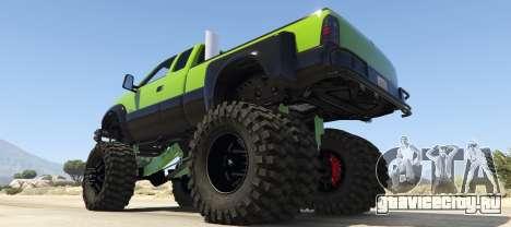Sandking HD Monster Dually для GTA 5 вид слева