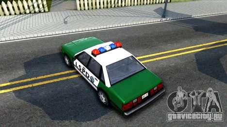 LSPD Police Car для GTA San Andreas вид сзади