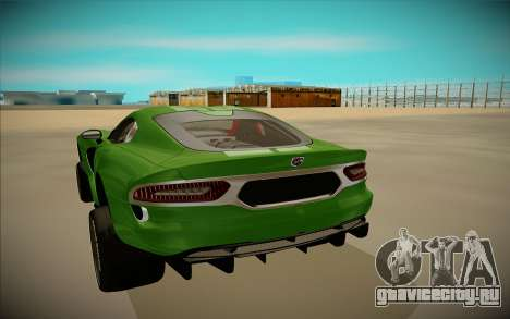 Dodge Viper GTS Off Road для GTA San Andreas вид сзади