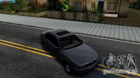 BMW 540i E39 для GTA San Andreas вид справа