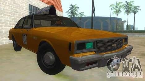 Chevrolet Impala Taxi 1985 для GTA San Andreas вид сзади