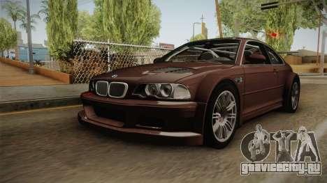 BMW M3 E46 2005 NFS: MW Livery для GTA San Andreas