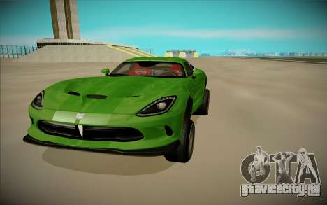 Dodge Viper GTS Off Road для GTA San Andreas вид справа