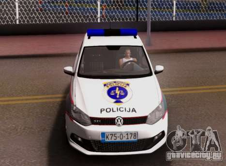 Volkswagen Polo GTI BIH Police Car для GTA San Andreas вид снизу