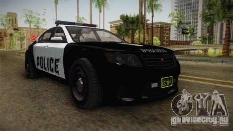 GTA 5 Cheval Fugitive Police для GTA San Andreas вид справа