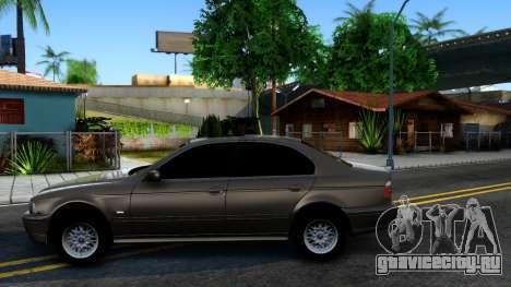 BMW 540i E39 для GTA San Andreas вид слева
