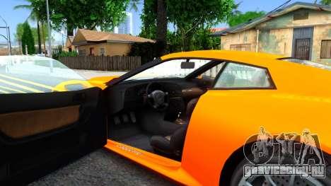Invetero Coquette GTA V ImVehFt для GTA San Andreas вид изнутри