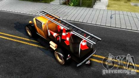 Bolt Utility Truck From Mafia для GTA San Andreas вид сзади