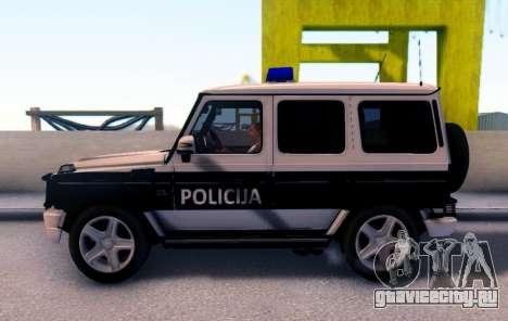 Мерседес-Benz G65 AMG в Биг полицейский автомоби для GTA San Andreas вид слева