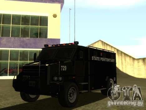 International 4000 Police Special для GTA San Andreas вид сзади слева