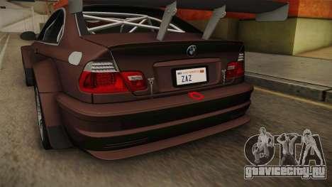 BMW M3 E46 2005 NFS: MW Livery для GTA San Andreas вид сверху
