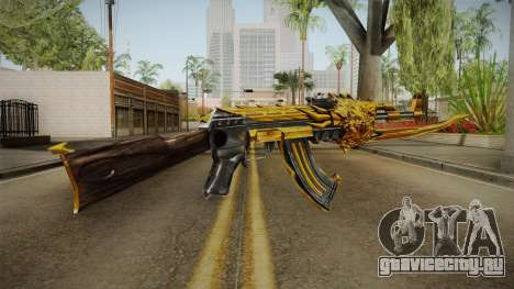 Cross Fire - AK-47 Beast Noble Gold v1 для GTA San Andreas третий скриншот