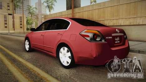 Nissan Altima 2009 Standard для GTA San Andreas вид слева