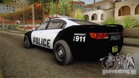 GTA 5 Cheval Fugitive Police для GTA San Andreas вид слева