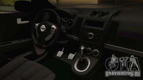 Nissan Altima 2009 Standard для GTA San Andreas вид изнутри