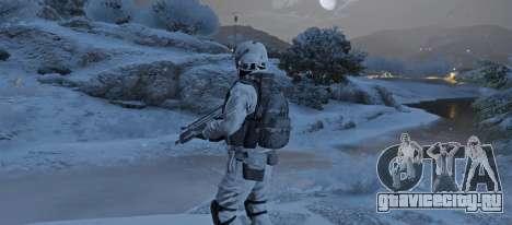 Flat Snow Camo для GTA 5 третий скриншот