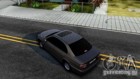 BMW 540i E39 для GTA San Andreas вид сзади