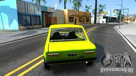 Fiat 128 для GTA San Andreas вид сзади слева