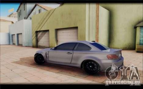 BMW M1 Coupe для GTA San Andreas вид сзади слева