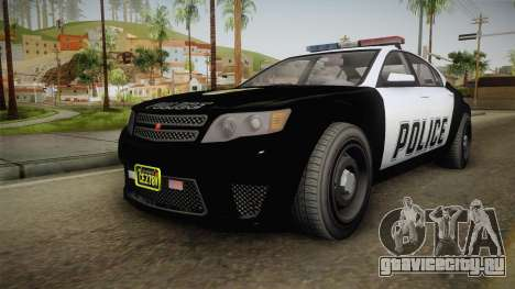 GTA 5 Cheval Fugitive Police IVF для GTA San Andreas вид справа