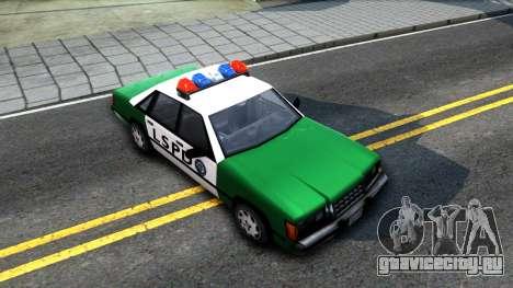 LSPD Police Car для GTA San Andreas вид справа