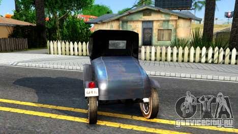Bolt Ace Runabout для GTA San Andreas вид сзади слева