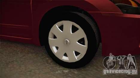 Nissan Altima 2009 Standard для GTA San Andreas вид сзади