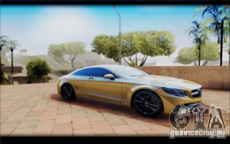 Mercedes-Benz S63 Coupe GOLD для GTA San Andreas
