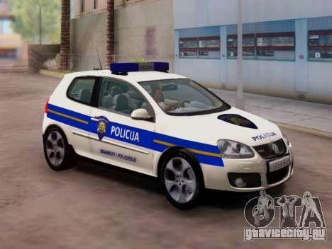 Гольф V Хорватский Полицейский Автомобиль для GTA San Andreas