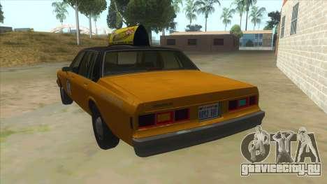Chevrolet Impala Taxi 1985 для GTA San Andreas вид сзади слева