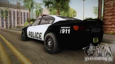 GTA 5 Cheval Fugitive Police IVF для GTA San Andreas вид сзади слева