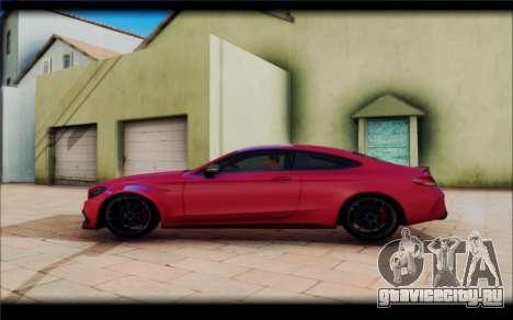 Mersedes-Benz C63 Coupe Tuning для GTA San Andreas вид слева