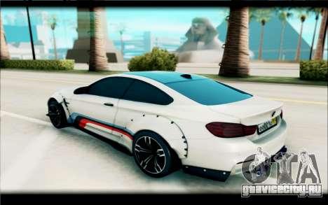 BMW M4 Perfomance для GTA San Andreas вид слева