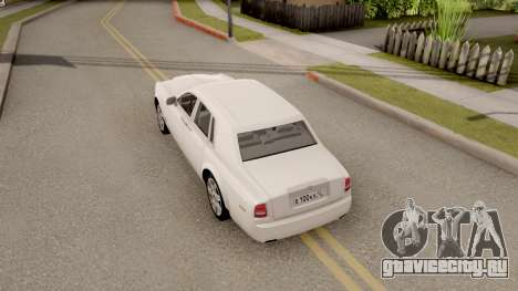 Rolls-Royce Phantom (VII) для GTA San Andreas вид сзади