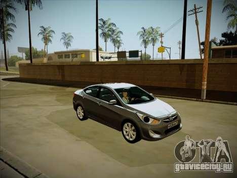 Hyundai Solaris Karelian Edition для GTA San Andreas вид сбоку