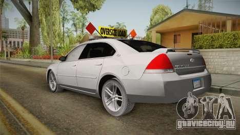 Chevrolet Impala 2008 LTZ Pilot Car для GTA San Andreas вид слева