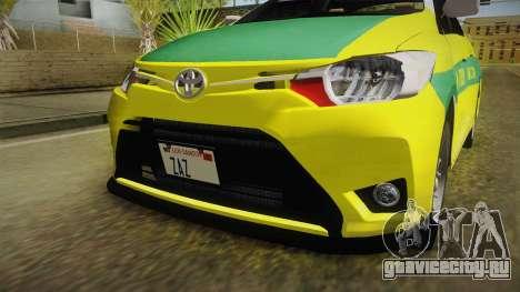 Toyota Vios Sturdy Philippine Taxi 2014 для GTA San Andreas вид сбоку