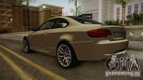 BMW M3 E92 2012 Itasha PJ для GTA San Andreas вид сзади слева