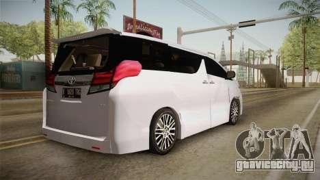 Toyota Alphard 3.5G 2015 v2 для GTA San Andreas вид слева