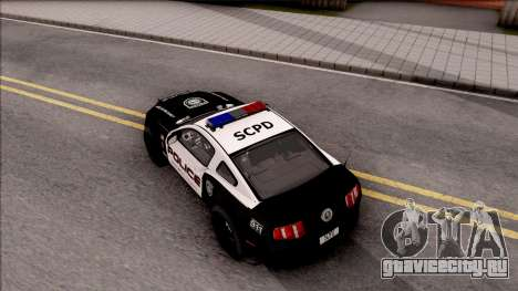 Ford Mustang GT High Speed Police для GTA San Andreas вид сзади