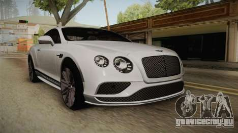 Bentley Continental GT Speed 2016 для GTA San Andreas