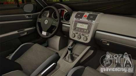Volkswagen Jetta 2007 для GTA San Andreas вид изнутри