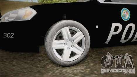 Chevrolet Impala 2009 LSPD для GTA San Andreas вид сзади