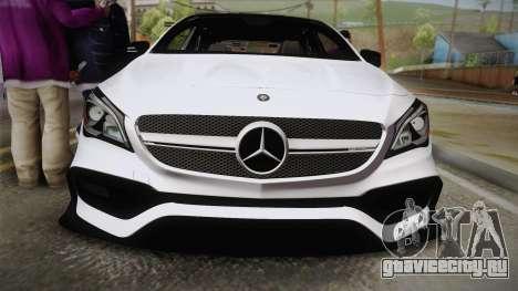 Mercedes-Benz CLA45 AMG 2017 для GTA San Andreas вид справа