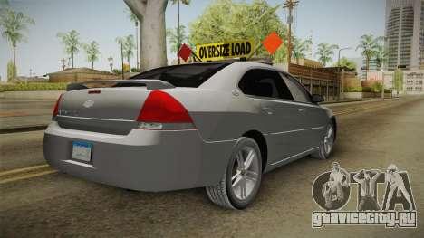 Chevrolet Impala 2008 LTZ Pilot Car для GTA San Andreas вид справа