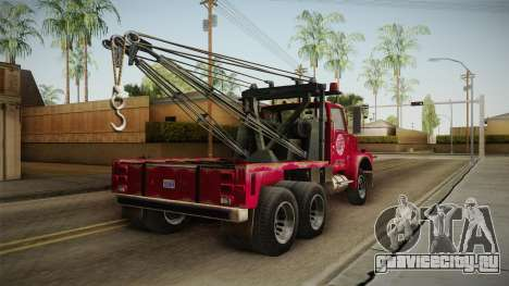 GTA 5 Vapid Towtruck Large Worn для GTA San Andreas вид слева