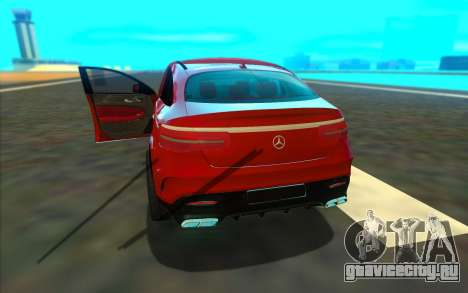 Mercedes-Benz GLE 63 AMG 2017 для GTA San Andreas вид справа